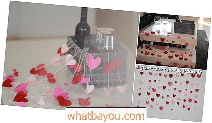 DIY Paper Heart Garland - Decoración del día de San Valentín {Video Tutorial}