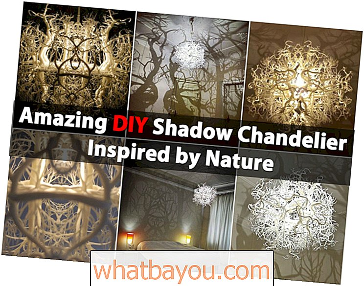 Fantastisk DIY Shadow Chandelier Inspirert av naturen
