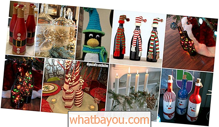 20 Festively Easy Wine Craft Bottle Untuk Holiday Home Decorating