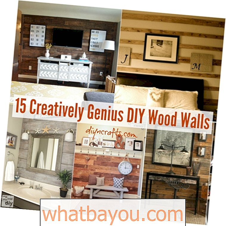 15 Kreatif Genius DIY Wood Walls