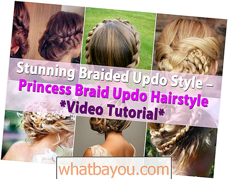 Fantastisk flettet oppdateringsstil - Princess Braid Updo Hairstyle Video Tutorial