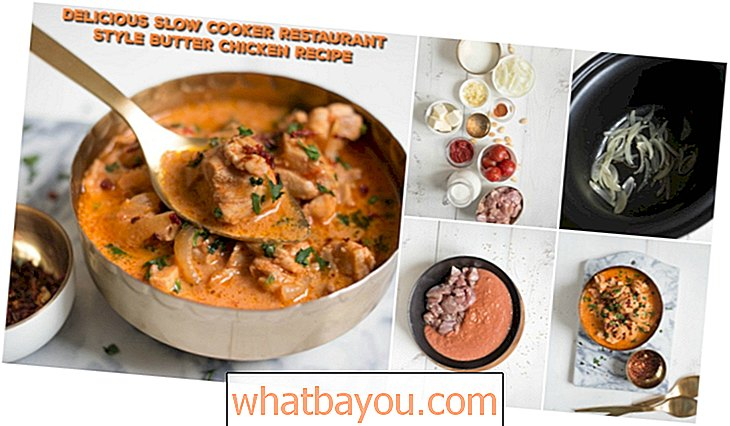 Maak uw eigen take-out met deze Slow Cooker Restaurant Style Butter Chicken