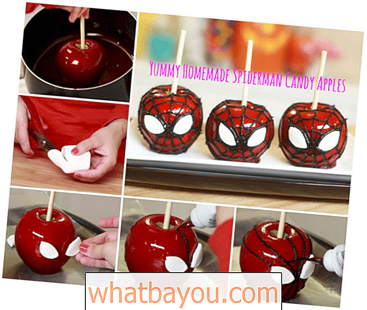 Yummy Homemade Spider-Man Candy Apples Your Kids Will Love