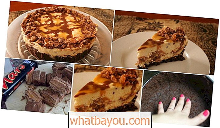 Лесен и вкусен No-Bake Mars Bar Cheesecake
