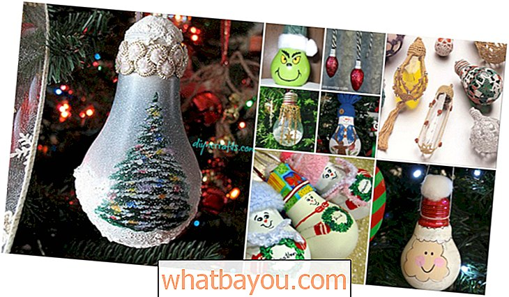 10 Insanely Easy Christmas Light Bulb Dekorasi dan Ornamen