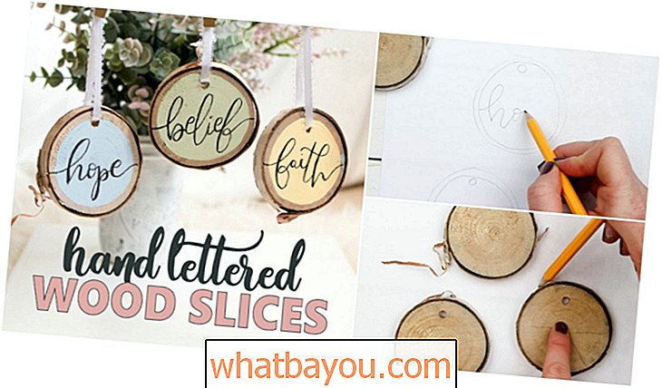 Cuti: Rustic DIY Hand Lettered Wood Slice Ornaments For Easter