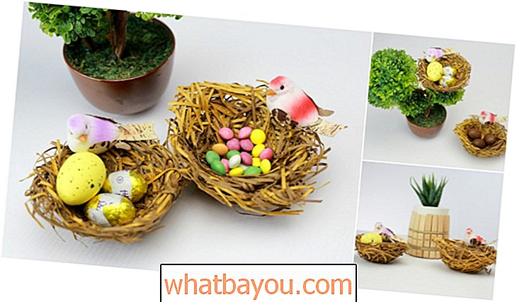 How to Make a Realistic Bird   s Nest Candy Holder for Easter
