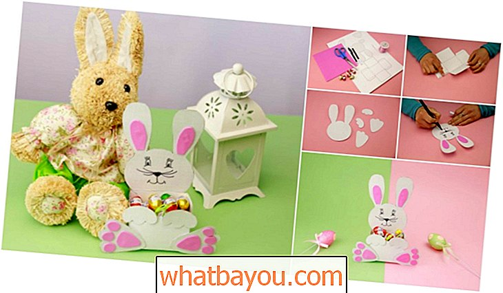 DIY søt papir Easter Bunny Candy Holder {Gratis utskrivbar}