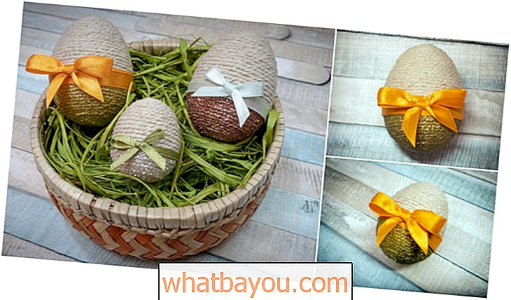 DIY Rustic Long Easter Egg Trang trí Craft
