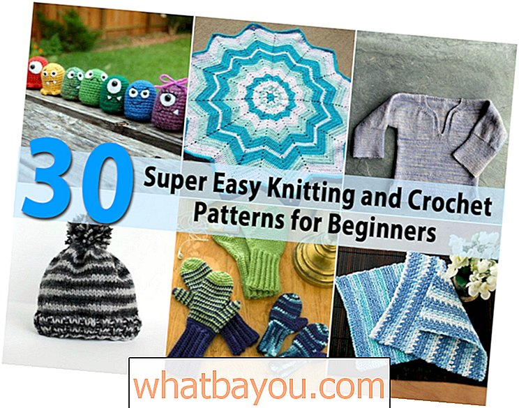 30 Super Easy Knitting and Crochet Patterns for Beginners