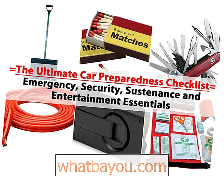Kontrolní seznam The Ultimate Car Preparedness Essentials - Emergency, Security, Sustriage and Entertainment Essentials