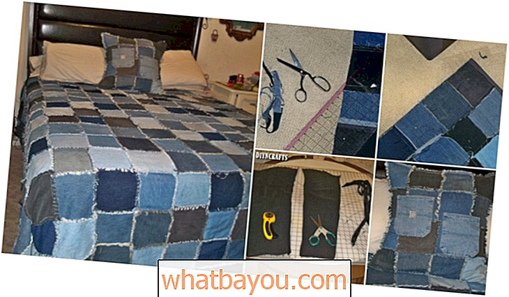 Brilliant Upcycling Project: Jak vyrobit repurposed Denim Rag Quilt