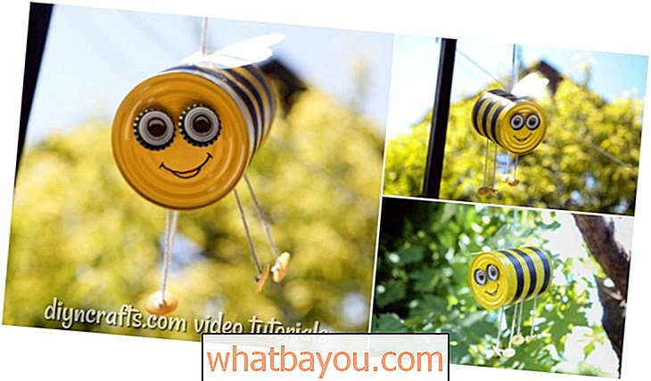 Repurpose: Bricolage Hanging Bee Craft Décoration de jardin