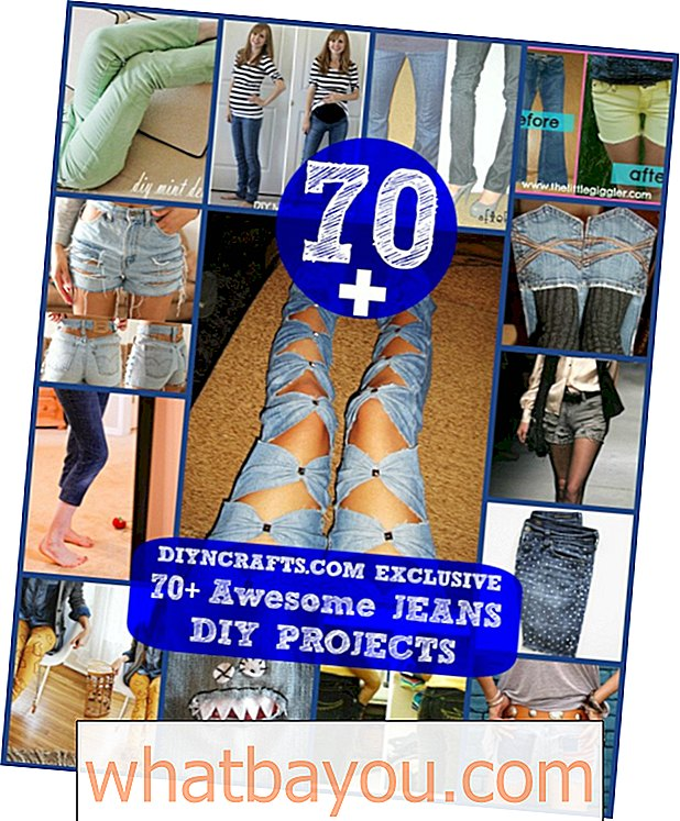70+ Projek DIY Jeans Awesome {Refashioning, Slimming, Transforming}