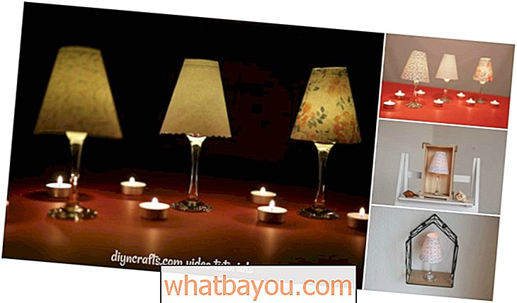 opakovane: DIY Wine Glass Lucerna Tealight sviečky