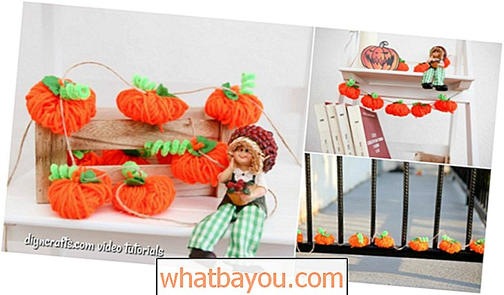 Repurpose: DIY Autumn Decor Yarn Pumpkin Garland {Vidéo}